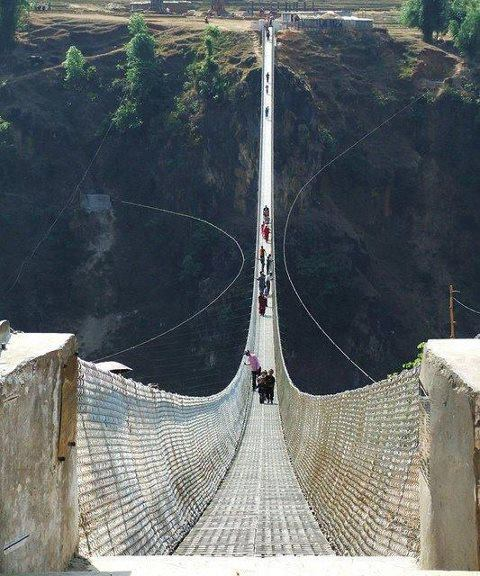 Kushma - Gyadi Suspension Bridge- Nepal